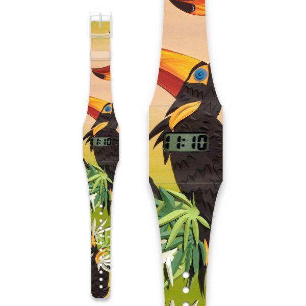SCHNABELVOGEL Pappwatch / Armbanduhr aus reißfestem und wasserabweisendem TYVEK®