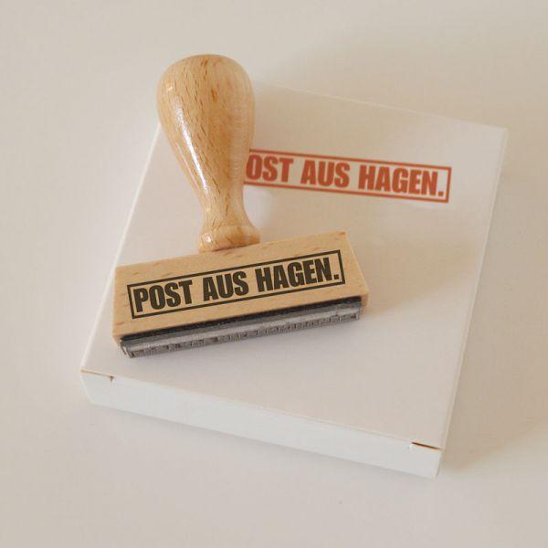 Stempel POST AUS HAGEN.