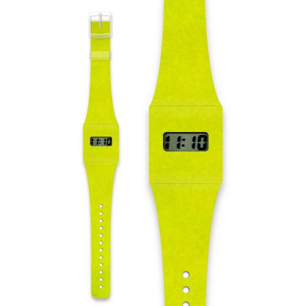 NEON Pappwatch / Armbanduhr aus reißfestem und wasserabweisendem TYVEK®