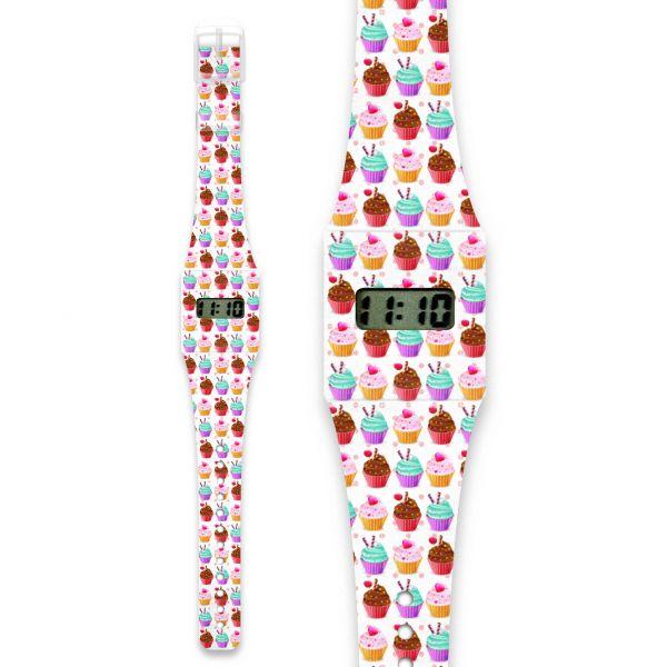 CUPCAKE Pappwatch / Armbanduhr aus reißfestem und wasserabweisendem TYVEK®