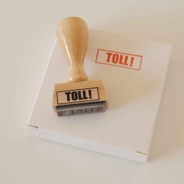 Stempel TOLL!