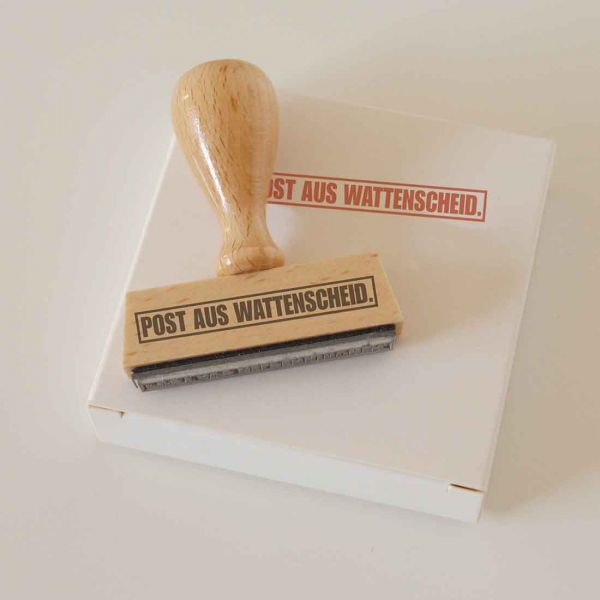 Stempel POST AUS WATTENSCHEID.