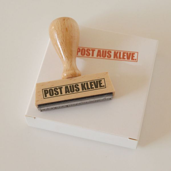 Stempel POST AUS KLEVE.