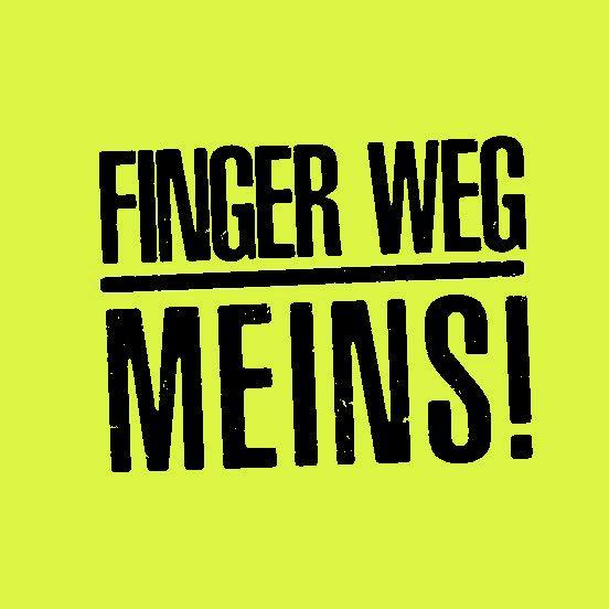 Haftnotizblock FINGER WEG - MEINS! - 2 Blöcke à 50 Blatt