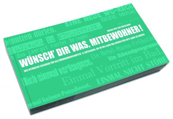 Gutscheinbuch für Wohngemeinschaften | WÜNSCH DIR WAS, MITBEWOHNER!