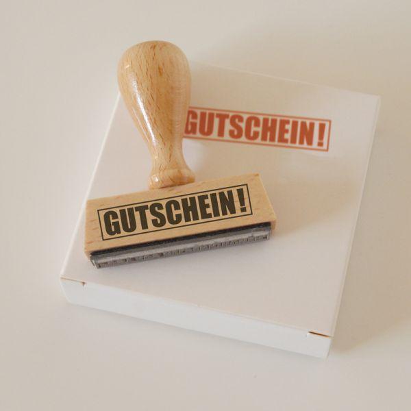 Stempel GUTSCHEIN!