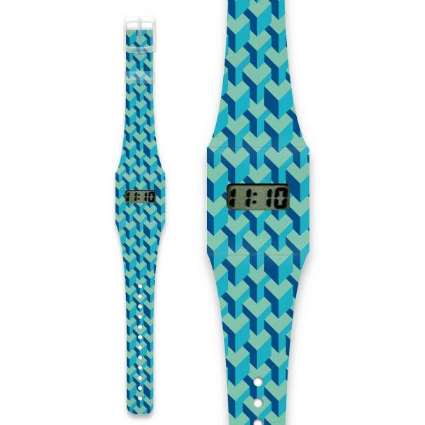 3D CUBES Pappwatch / Armbanduhr aus reißfestem und wasserabweisendem TYVEK®