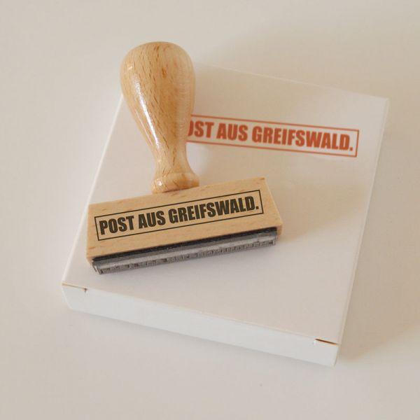 Stempel POST AUS GREIFSWALD.