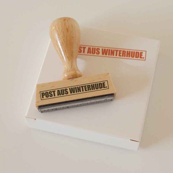 Stempel POST AUS WINTERHUDE.