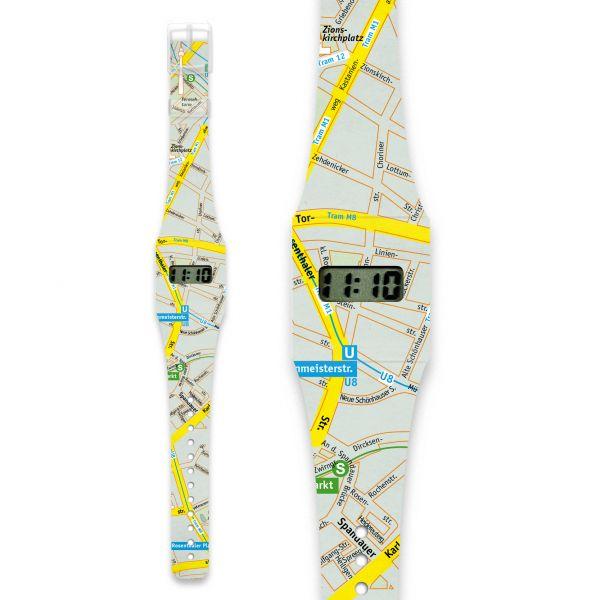 LOST IN BERLIN - CLASSIC Pappwatch / Armbanduhr aus reißfestem und wasserabweisendem TYVEK®