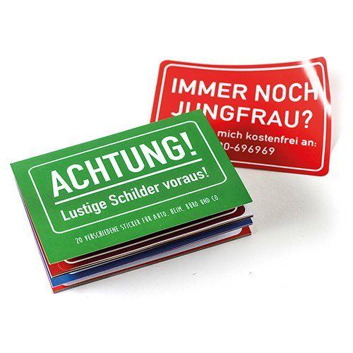 Sticker-Heftchen ACHTUNG, LUSTIGE SCHILDER VORAUS!