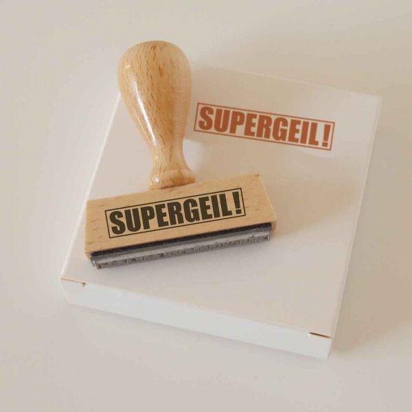 Stempel SUPERGEIL!