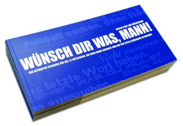 Gutscheinbuch für Männer | WÜNSCH DIR WAS, MANN!
