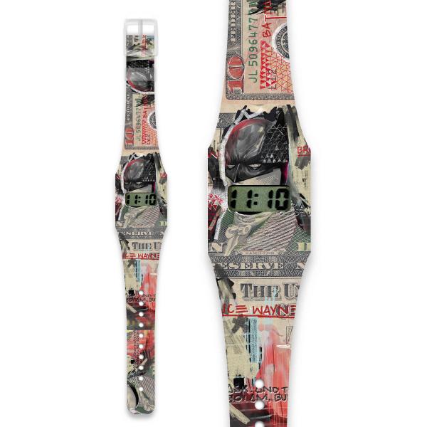 THE DARK NIGHT Pappwatch / Armbanduhr aus reißfestem und wasserabweisendem TYVEK®