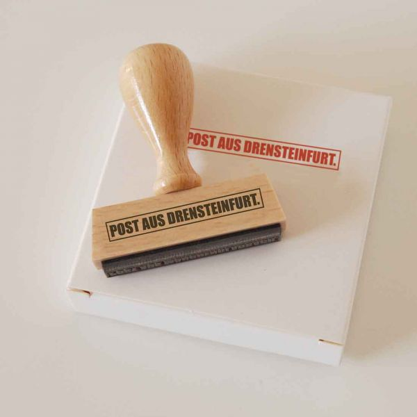 Stempel POST AUS DRENSTEINFURT.