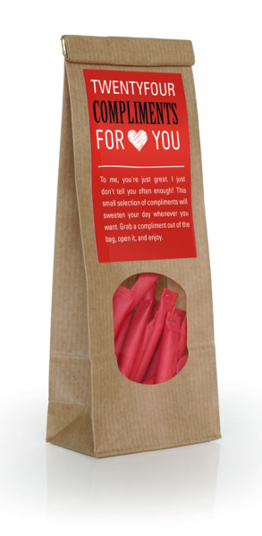 COMPLIMENTS for you! - 24 lots in a gift bag