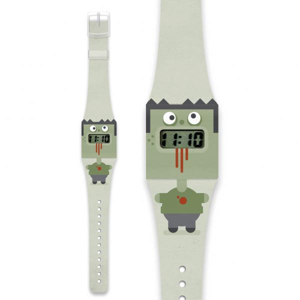 ZOMBIE Pappwatch / Armbanduhr aus reißfestem und wasserabweisendem TYVEK®