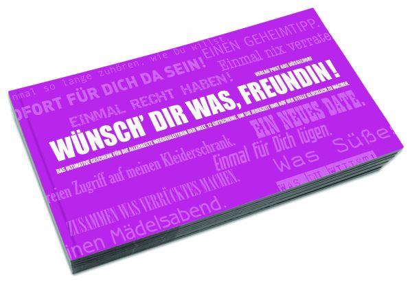 Gutscheinbuch für Freundinnen | WÜNSCH DIR WAS, FREUNDIN!