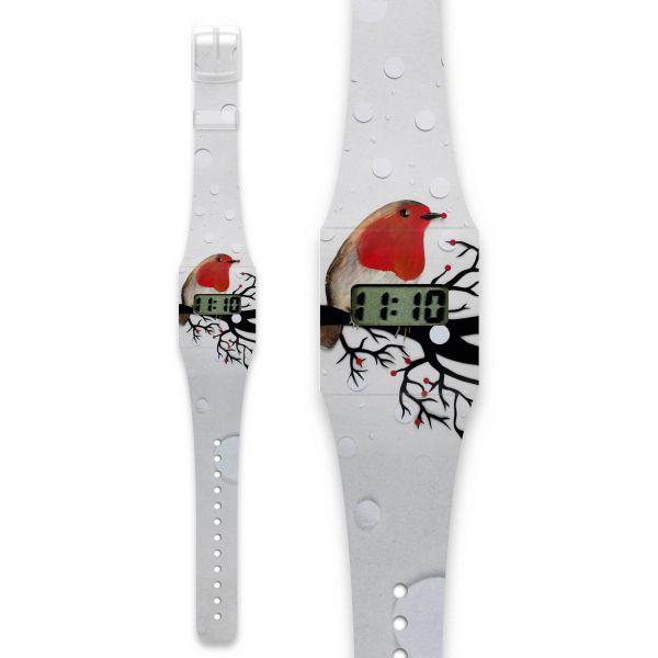 ROTKEHLCHEN Pappwatch / Armbanduhr aus reißfestem und wasserabweisendem TYVEK®