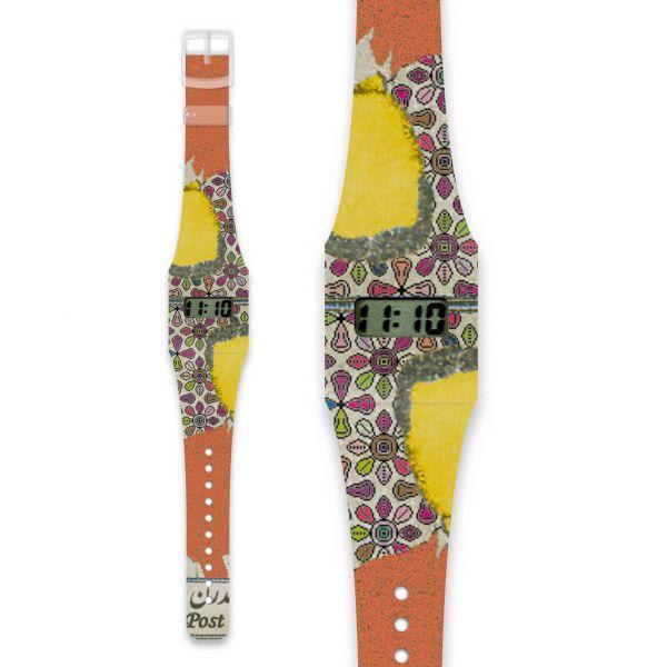 STAMP WITH FLOWERS Pappwatch / Armbanduhr aus reißfestem und wasserabweisendem TYVEK®