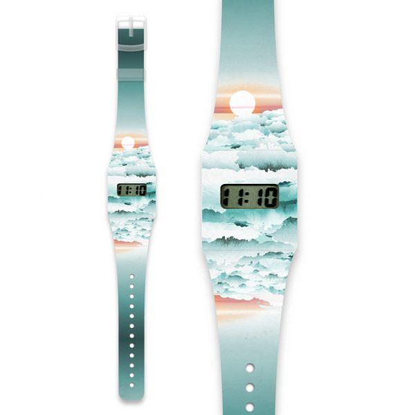 CLOUDS Pappwatch / Armbanduhr aus reißfestem und wasserabweisendem TYVEK®