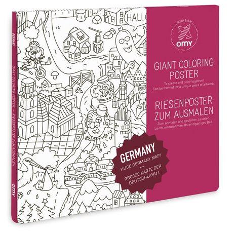 Riesen-Poster zum Ausmalen | GERMANY | Deutschlandkarte
