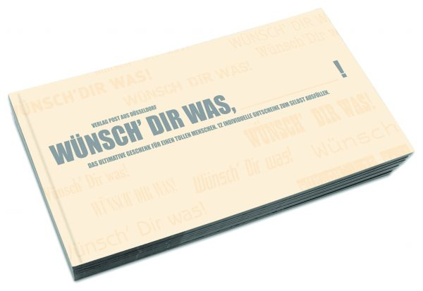 Gutscheinbuch zum Selbst Ausfüllen | WÜNSCH DIR WAS, BLANKO!