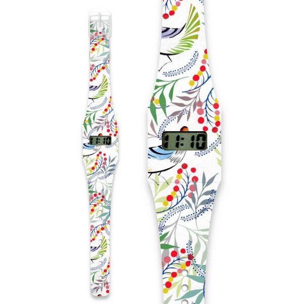 FLORALITY BIRD Pappwatch / Armbanduhr aus reißfestem und wasserabweisendem TYVEK®
