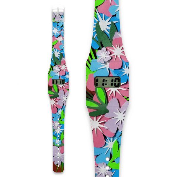 FLOWER POWER Pappwatch / Armbanduhr aus reißfestem und wasserabweisendem TYVEK®
